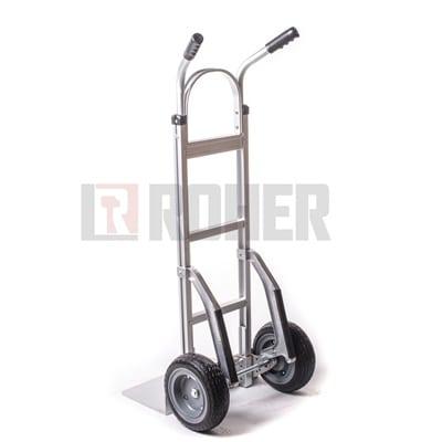 עגלת סבלים אלומיניום עם מחליקיים גלגלים מלאים טאיוואן ROHER PRO