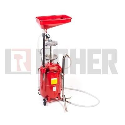 מתקן לריקון שאיבה ובדיקת שמן 65 ליטר ROHER-TOOLS