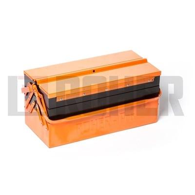 """ארגז כלים מקצועי הרמוניקה מתכת 20X21X46 ס""""מ ROHER PRO"""