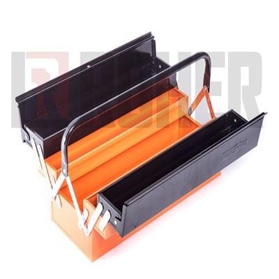 """ארגז כלים מקצועי הרמוניקה מתכת ארוך 20X21X56 ס""""מ ROHER PRO"""