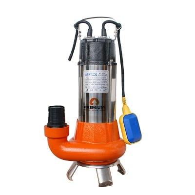 משאבה מים טבולה נירוסטה/יציקה לביוב PREMIUM LUC V1100