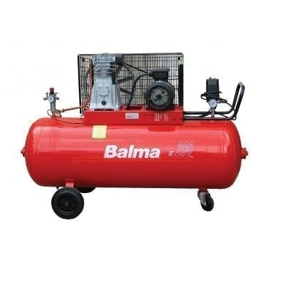 "מדחס 200 ליטר 3 כ""ס 400V עם רצועה BALMA B22008/3"