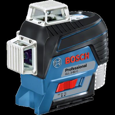 פלס לייזר 3 מעגלים GLL 3-80C כולל חצובה BOSCH